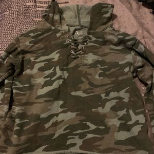 Justice camo hoodie